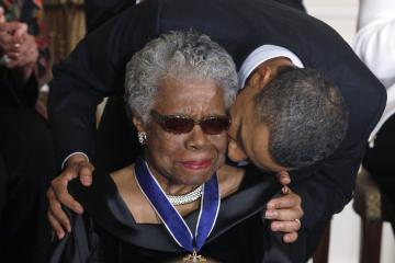angelou and obama