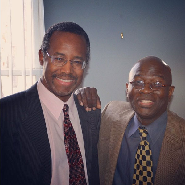 Ben Carson, left, with Armstrong Williams.