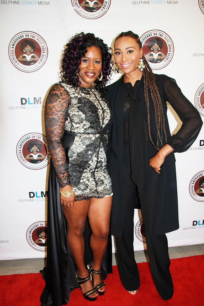 Tamika Newhouse, founder of AAMBC Literary Awards, and celebrity host Cynthia Bailey (Photos by Terry Shropshire for Atlanta Daily World and Real Times Media).