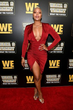 """ATLANTA, GEORGIA - MARCH 10: Eva Marcille attends the premiere of """"Waka & Tammy: What The Flocka"""" at Republic on March 10, 2020 in Atlanta, Georgia. (Photo by Paras Griffin/Getty Images WE tv)"""