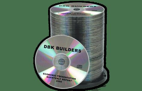 100 CD's Duplicated