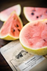 Fresh-cut melons are ready to eat.