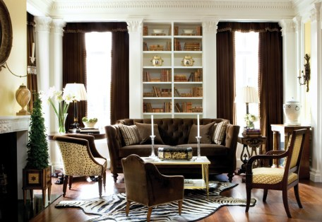 The living room of a Regency-style showhouse that Carithers designed in Atlanta for Southern Accents magazine in 2008. Photograph by Erica George Dines