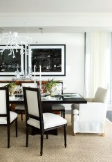 62) An ethereal dining room by Barbara Westbrook packs a punch in black and white.