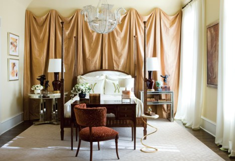 38) Douglas Weiss— scheme for a master bedroom is sexy and chic.