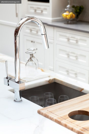Faucet and sink by Elkay.