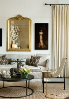 """A vignette in Huff Harrington Home showcases the women""""s penchant for mixing tactile textures."""