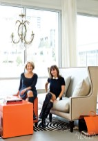 Huff and Harrington in their new French-inspired lifestyle boutique that recently made its debut next to the St. Regis Hotel & Residences in Buckhead.