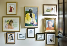 "An upstairs hall displays a collection of portraits, photographs and other memorabilia Monica""s been given during her tenure at WSB-TV."