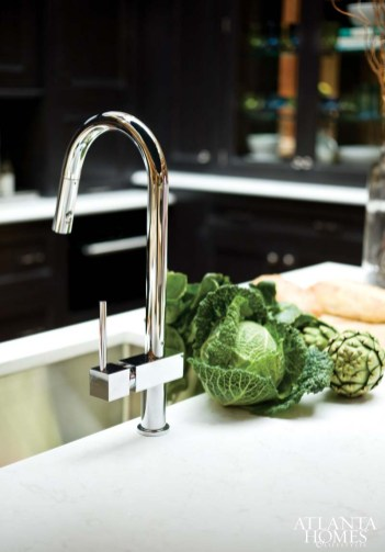 The faucet and plumbing are by Elkay.