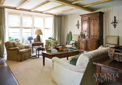 The family room is an inviting place to take a seat and relax.