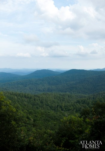 The cabin's views of The Blue Ridge Mountains are part of the appeal of the western North Carolina town of Cashiers, which is less than a three-hour drive from Atlanta.