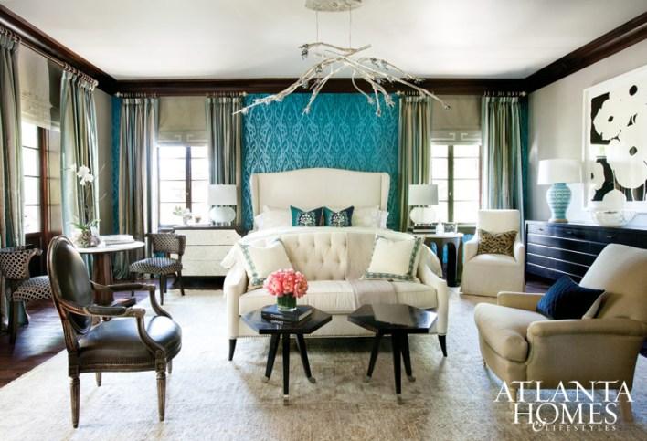 Master Bedroom by Traci Rhoads; Traci Rhoads Interiors