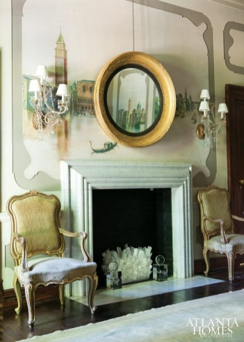 A detail in the Melanie Turner Interiors-designed dining room.