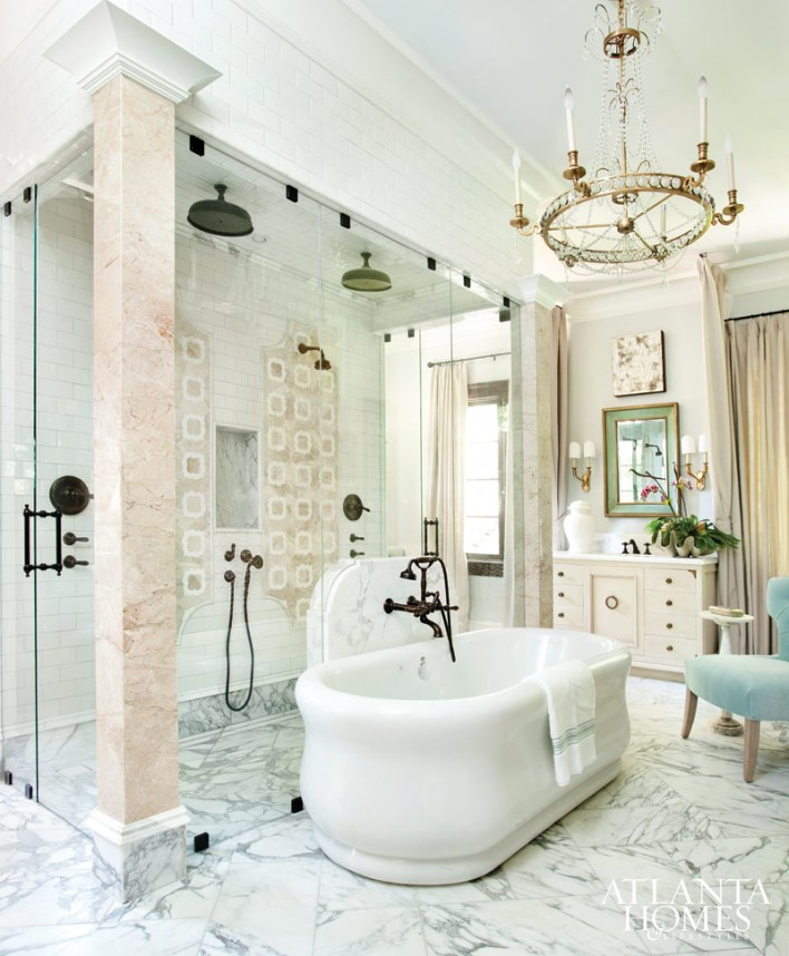 Master Bathroom by Clay Snider; Clay Snider Interiors in collaboration with Design Galleria Kitchen and Bath Studio