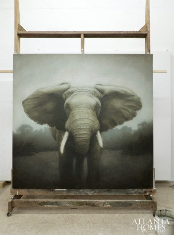 An eight-foot-square African elephant.