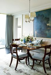 """Phoebe Howard sets a table with all the right details: William Yeoward Crystal, handcrafted china and an arrangement of white mums, veronicas and blue hydrangeas plucked from a friend's back yard. """"Look outside and see what you can pick,"""" says Howard. """"We have so many beautiful blooms here year-round."""""""
