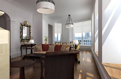 """2008: New monograph celebrates the firm""""s past decade of work. Firm is the exclusive designer for finished residences at The Mansion on Peachtree, and is working with purchasers of shell units to create customized plans for their individual spaces."""