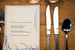 Custom designed menus were kept by guests as mementos.