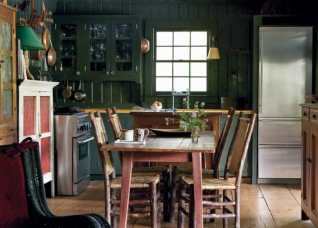 20) On Lake Rabun, a country kitchen is pared to the basic essentials.