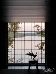 The 99-paned window at McAlpine's original cabin.