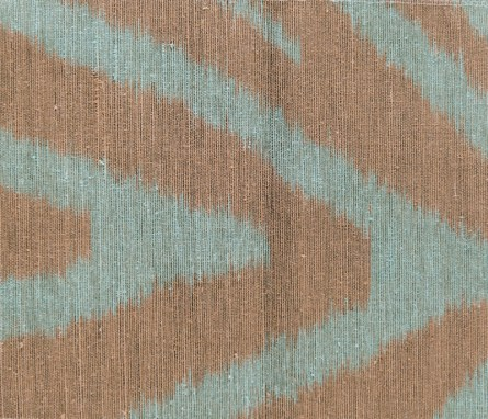 """Illusion silk fabric in deep forest by Jim Thompson. Available through Jerry Pair &""""Associates."""