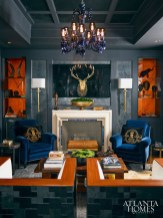 """Showhouse // Gold Michael Habachy, Allied ASID, Habachy Designs, Inc., Atlanta Symphony Decorator's Show House """"Cigar Room"""""""