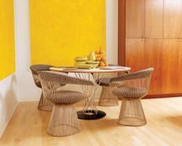 1) The breakfast area of Debra Johnston's Buckhead home features an array of midcentury design classics.