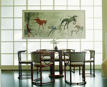 44) Furniture serves as art in the home of Michael and Audrey Landy.