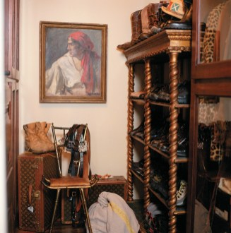 15) Hank Hitopoulos' closet is composed of pieces amassed from years of collecting.