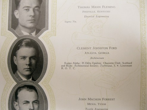 """Ford""""s senior yearbook picture at Georgia Tech."""