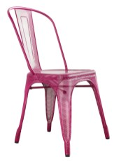 Perforated Marais A Chair in plum, $450. design within reach