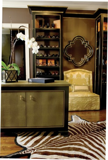 12) This master closet is a model of organization and sophistication, courtesy of Douglas Weiss.