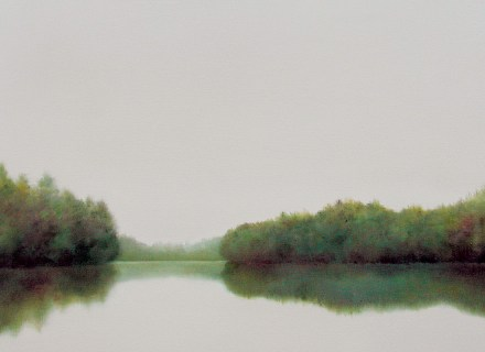 """Narrows"" oil on canvas by Elizabeth Stockton. Similar works available through The Mercantile and elizabethstockton.com"