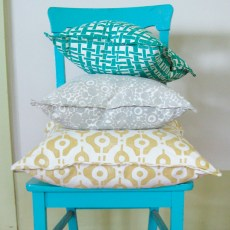 Pillows by athens, Georgia-based Block & Brayer, $80-$160 each. Fabrics, print to order at $85 per yard. Allison Harper Interior Design, ADAC, 425 Peachtree Hills Ave., Suite 30A, Atlanta 30305. (770) 366-4436; allisonharperdesign.com