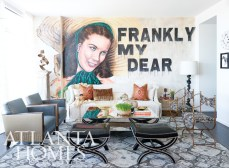 """A custom painted mural by artist Chris Dennis depicts Gone With the Wind""""s heroine, Scarlett O""""Hara."""