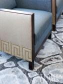 "Pattern and texture were integral to Howard""s design scheme."