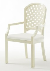 BeeLine Home Lattice Arm Chair, $1,700. Mrs. Howard, 425 Peach-tree Hills Ave. NE, Suite 23, Atlanta 30305. (404) 816-3830; phoebehoward.net
