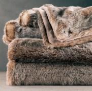 Luxe Lynx fur throw. $99. Restoration Hardware. (770) 804-9040; restorationhardware.com