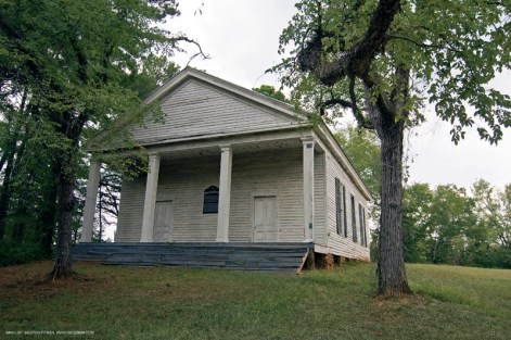 Hancock County This 1813 Greek Revival style building is all that remains of the once-thriving community of Mt. Zion. Mount Zion Church needs exterior and interior repairs. Its remote location (seven miles from Sparta) makes it particularly susceptible to vandalism.