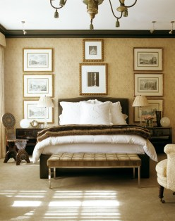 A bedroom in New Orleans features contemporary and masculine influences. PHOTOGRAPHY BY PIETER ESTERSOHN