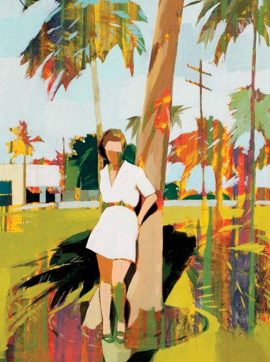 """Palm Shadow"" painting by Signe Grush-ovenko, $300. Similar available at Gregg Irby Fine Art, (404) 941-9787; greggirbyfineart.com"