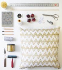 From conception to production, Kari Fisher personally handcrafts each pattern and pillow.
