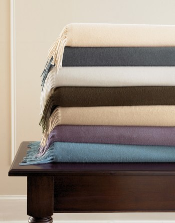 Sumptuous Sferra blankets from Kathryn Leach home