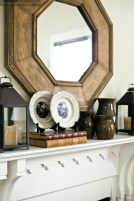 Throughout the house, he has created stylish vignettes and groupings of collections.