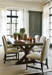 An antique farm table from The Gables Antiques imparts a rustic touch.