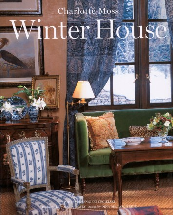 "Designer Charlotte Moss"" book, Winter House."