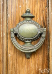 The front door knocker.