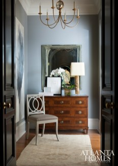 A stylish entry entry nook in the master suite, designed by Robert Brown.