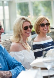 Bob Brown, Kimberly Sundt and Malissa Peace enjoy Quatrano's company.